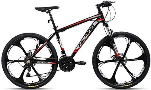 Hiland 26 Inch Mountain Bike Aluminum with 17 Inch Frame Disc-Brake 3/6-Spokes