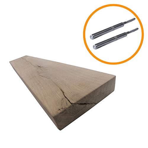 Steigerhoutpassie - Blinde plankdrager - Metaal - Set - Eiken Rustiek - 100x18x4.2cm