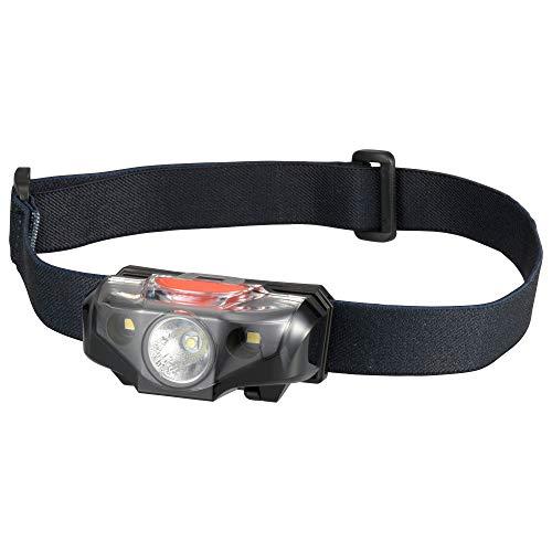 オーム電機 LEDヘッドライト(SOS救難モールス信号点滅機能/140lm/単3形×1本使用/連続使用時間2h) LC-SOS140-K ブラック