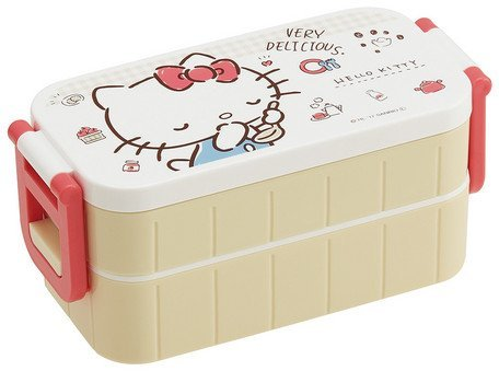 Skater Sanrio Hello Kitty Boîte à Lunch,bento à Deux étages 600ml YZW3