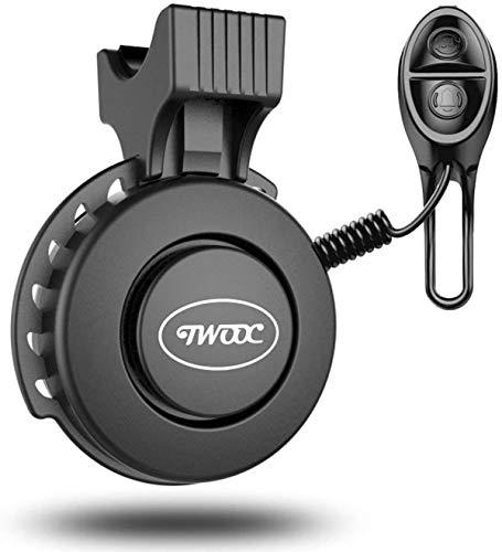 FCREW Fahrradklingel Aufgerüstet Einstellbare Lautstärke USB Wiederaufladbar Elektrische Fahrrad Klingel Fahrradhupe IP65 wasserdicht Staubgeschützt Bicycle Bell mit 4 Soundsmodi für MTB/Rennrad/BMX