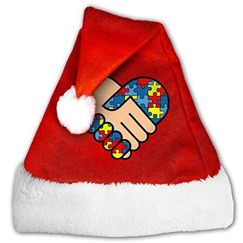 Lineman Skull - Gorro unisex de Pap Noel, cmodo, color rojo y blanco de felpa, para fiesta de Navidad