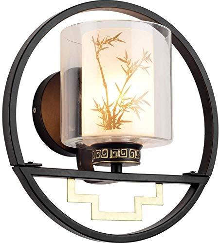 KANGSHENG Aplique de Pared Retro Lámpara de Pared Creativa Luces Hierro Metal Iluminación de Vidrio Redondo Accesorios de casa de té Lámpara Moderna E27