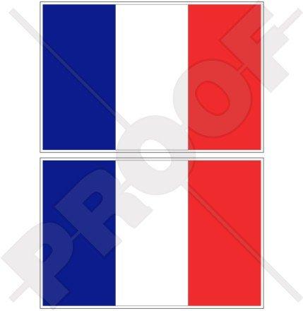 Frankreich Französische Flagge Française 7,6cm (75mm) Bumper Sticker, Aufkleber Vinyl X2