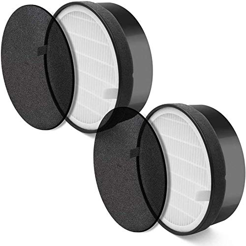 Levoit Air Purifier LV-H132 Replacement Filter, True HEPA and Activated Carbon Filters Set 2 Pack