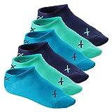 CFLEX Lifestyle Herren und Damen Sneaker Socken (6 Paar), Halbsocken aus Baumwolle - Oceanic 35-38