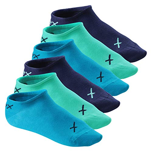 CFLEX Lifestyle Herren & Damen Sneaker Socken (6 Paar), Halbsocken aus Baumwolle - Oceanic 39-42