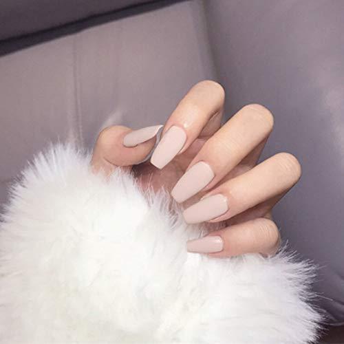 AiN Katy - matte balerina lang - Nägel falsche künstliche - 24 Stück - press on nails - fertig zum aufkleben - elegante fingernägel - aufkleber im set inklusive