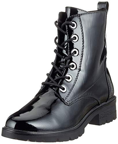 Tamaris Damen 25280-21 Combat Boots, Schwarz (Black Patent 18), 40 EU