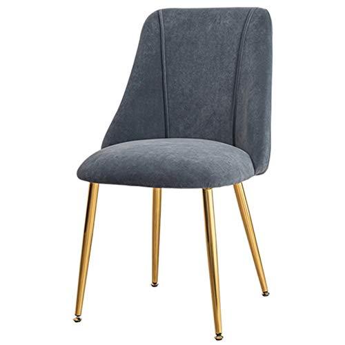 WHOJA Esszimmerstühle Dressing Stuhl Samtkissen Küchenstuhl Schwammfüllung mit hoher Dichte Für Esszimmer, Küche, Arbeitszimmer Goldene Metallrückseite Eckstühle (Color : Gray)