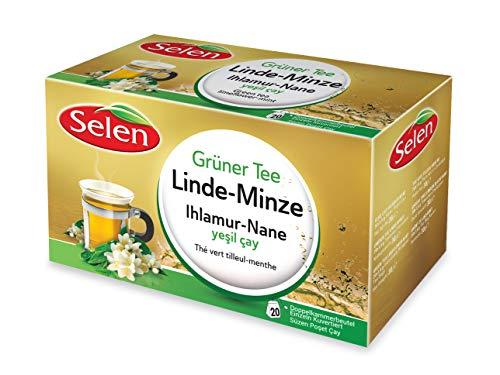 Selen Grüner Tee Linde-Minze 20 Teebeutel