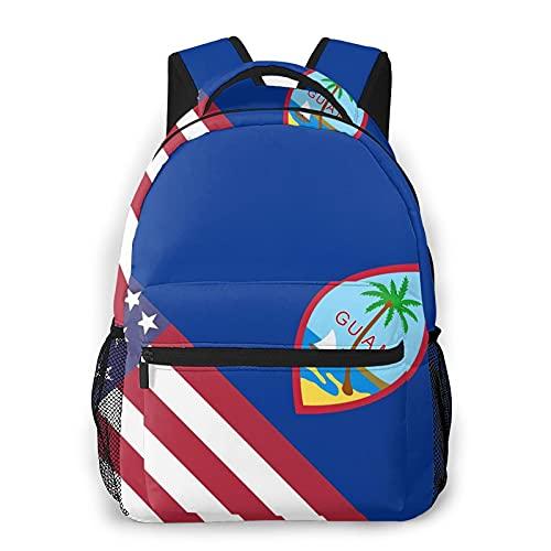 グアムUSAフラグ フィットネスバッグアウトドア用バック登山リュック多機能スクールビジネストラベルバックパック