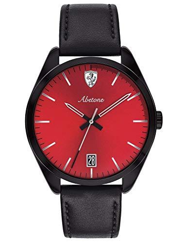 Scuderia Ferrari Unisex Analog Quarz Uhr mit Leder Armband 830499