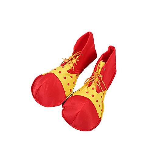 Asien Halloween Clown-Schuhe Kreative Halloween Kostüme Accessoires Halloween Clown-Kostüm Schuhe Cosplay Props Lustige Show Schuhe Verkleiden Props 1pc Red L