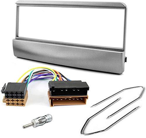 Sound-way Kit Montaje Autoradio, Marco 1 DIN Radio para Coche, Cable Adaptador Conector ISO, Adaptador Antena, Llaves de Montaje Compatible con Ford Focus/Fiesta/Mondeo/Escort/Transit