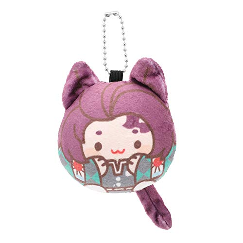 Saicowordist Demon Slayer: Kimetsu no Yaiba Gevulde Pluche Pop Sleutelhanger Leuke Cartoon Personages Pluche Pendant Bag Accessoires Anime Fans Gift Kamado Tanjirou