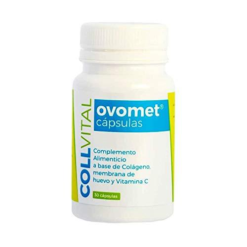 Colágeno con Magnesio hidrolizado Acido hialuronico Vitamina C y Zinc OVOMET cápsulas Alta concentración 1 sola cápsula al día, para el pelo cabello articulaciones uñas y piel