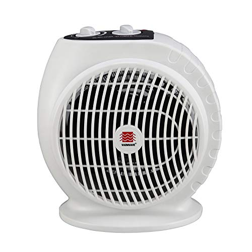 WarmWave HFQ15A Electric Fan Heater with Adjustable Thermostat