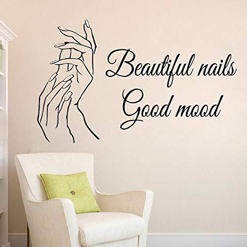 Nagel salon muurstickers mooie nagel muur schilderijen nagellak decoratie schoonheidssalon raamstickers