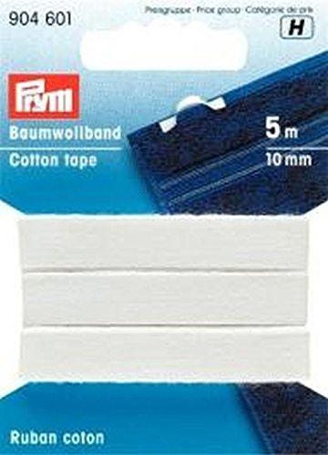 PRYM 9046015m 10mm Baumwolle Tape, weiß