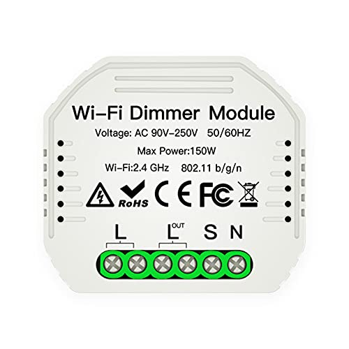 Dulov 1 Gang DIY Mini LED WiFi Dimmer módulo Smart Life/Tuya App y control remoto inalámbrico 1 manera Smart luz regulable interruptor