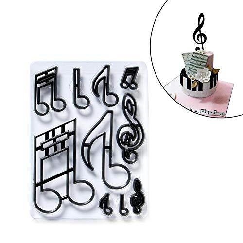 Patchwork Cutter - Extra große Musiknoten Silhouette Set - Kuchen dekorieren werkzeug