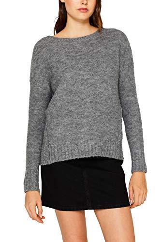 edc by ESPRIT Damen 099Cc1I020 Pullover, Grau (Gunmetal 5 019), Small (Herstellergröße: S)