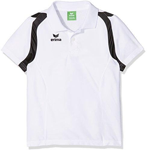 Erima Razor 2.0 Polo Mixte Enfant, Blanc/Noir, FR : XXS (Taille Fabricant : 128)