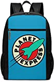 Pla_Net Ex_Press School Backpack for Girls Boys Kids Teens, Unisex Lightweight Backpack for Men Women College Schoolbag Laptop Backpack Travel Bookbag 17inch Black