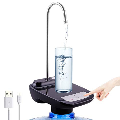 Auveach Dispensador de agua de 5 galones USB de carga con sistema...