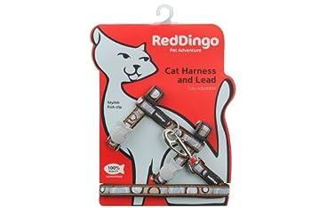 Red Dingo Laisse/Harnais pour Chat Circadelic Marron