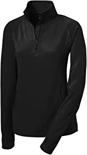 Ladies Moisture Wicking Stretch 1/2-Zip Pullover Sweatshirts. Sizes XS-4XL