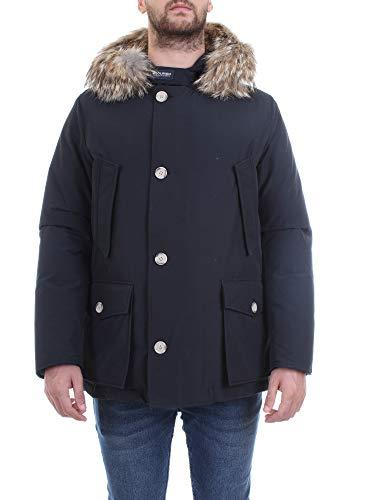 Woolrich Arctic Anorak parka uomo con pelliccia-DKN Blu-L