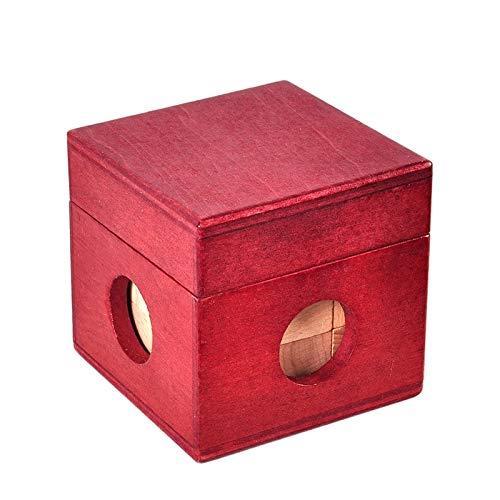 gdangel Educativo Juguete Madera Soma Cubo Rojo Caja De Madera con Cubo Rompecabezas Cerebro Teaser Juego De Madera Juguetes 3D Puzzles para Adolescentes Adultos Niños Regalos