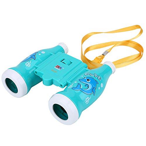 VGEBY Binoculares de Juguetes de Niños Binoculares Educativos Ampliación 6X para Niños (Color : Azul)