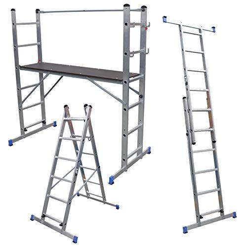 Plataforma multiuso combinación de andamio, escalera y plataforma de trabajo: Amazon.es: Bricolaje y herramientas