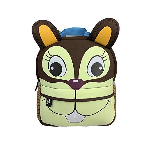DMM Supplies Mochila Happy Animals Ardilla Guardería, Unisex niños, marrón, Talla del Producto