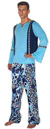 Maylynn - Duo de Costumes Hippie Zac - Homme - Bleu - Taille - L