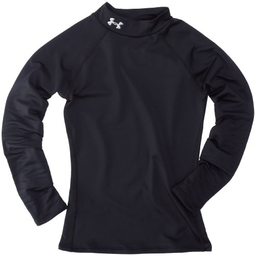 Under Armour UA Evo CG Fitted Mock ragazze camicia, Bambina, Hemd UA Evo CG Fitted Mock, nero, XL
