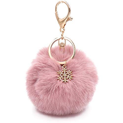 Kinglighten Faux Fur Pom Pom Keychain Purse Bag Charm Fluffy Ball Key Chain...