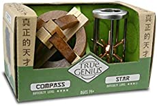 Compass and Star Combo, True Genius - Disentanglement Puzzles, Brain teasers, Adult Puzzle
