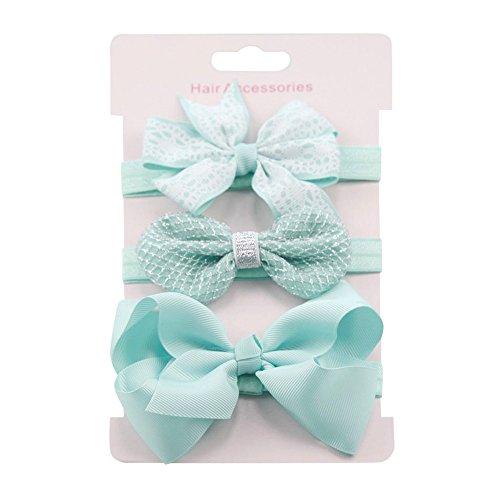 Banda elástica para el pelo, 3 unidades, para niñas, diseño floral