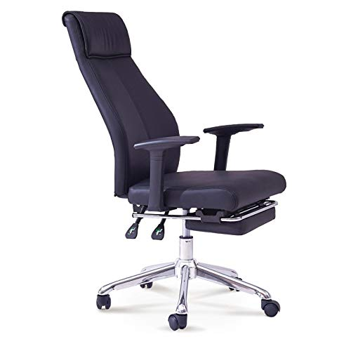 AYZE High Back Office Chair - Executive Bonded Leather Swivel Task Chair w/Rocking Function, Artificial Chair with Footrest