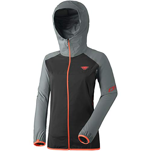 DYNAFIT W TLT 3L Jacket Colorblock-Grau-Schwarz, Damen Regenjacke, Größe 38 - Farbe Quiet Shade