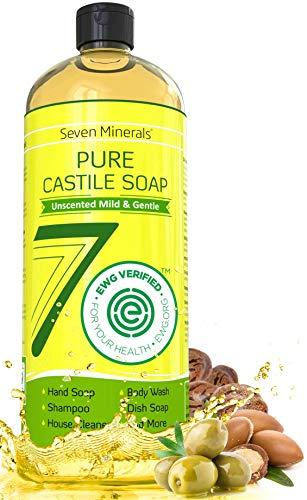 Pure Castile Soap, NO Palm Oil, GMO-Free – UNSCENTED MILD & GENTLE