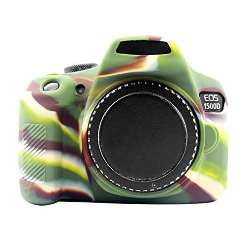 Xyamzhnn Impermeabile Morbido Silicone Protettiva Cassa della Macchina Fotografica for Canon EOS 1300D / 1500D, Camera Bag (Color : Color1)