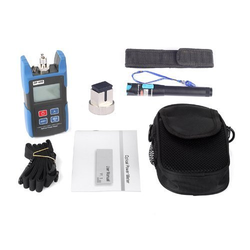 J-Deal TL510C Hand-held Optical Power Meter + 1mW Visual Fault Locator Fiber Optic Cable Tester Meter for CATV CCTV Telecommunications Engineering Maintenance Cabling System