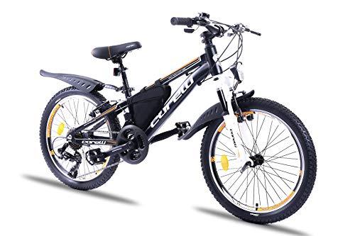 Corelli Twister Mountainbike 20 Zoll, 24 Zoll oder 26 Zoll mit Aluminium-Rahmen, V-Brake, Shimano 21 Gang-Schaltung, Gabelfederung, als Damen-Fahrrad, Mädchen-Fahrrad, Kinder-Fahrrad. (orange, 20.0)