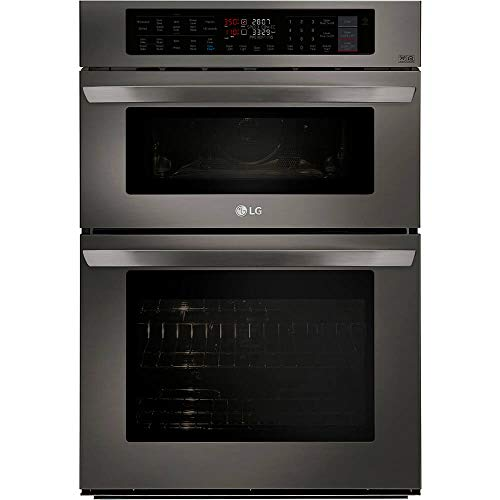 LG LWC3063BD 30 Black Stainless Convection Double Wall Oven