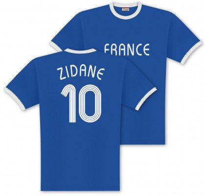 World of Football Player Shirt Zidane-Frankreich - S